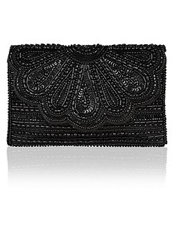 Molly Scalloped Clutch Bag