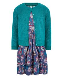 Monsoon Girls Bluebell Dress and Cardi