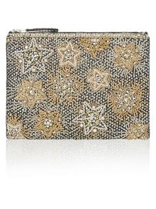 Accessorize Star Zip Top Clutch Bag