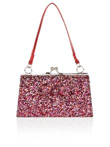 Monsoon Girls Mixed Metallic Bow Mini Bag