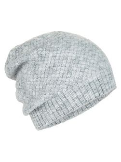 Basketweave beanie hat