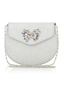 Monsoon Girls Gem Butterfly Glitter Saddle Bag