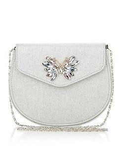 Girls Gem Butterfly Glitter Saddle Bag