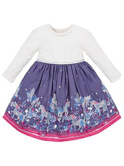 Baby Girl Emily Unicorn Dress