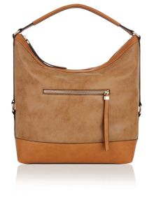Accessorize Double zip slouchy hobo bag