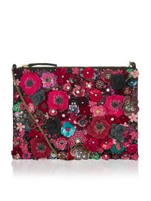 Accessorize Mabel 3d floral clutch bag