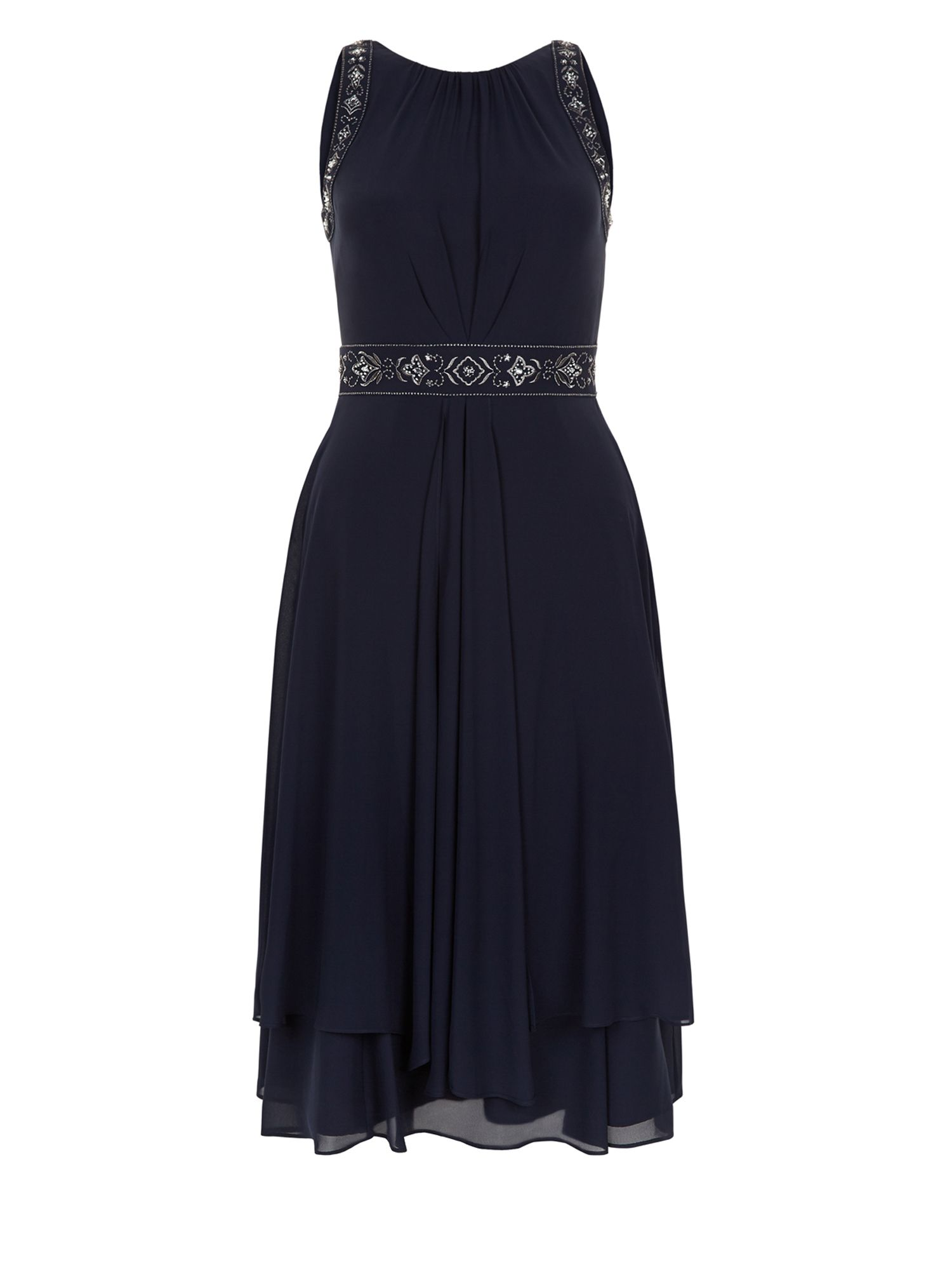 Monsoon Alice Dress, Blue