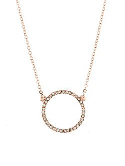 Diamante Eternity Hoop Pendant Necklace