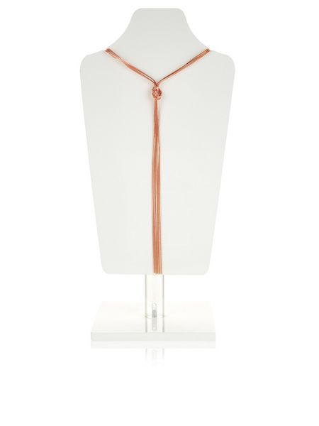 Accessorize Slinky Knot Lariat Necklace