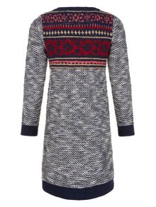 Monsoon Girls Farrah Fairisle Knitted Dress