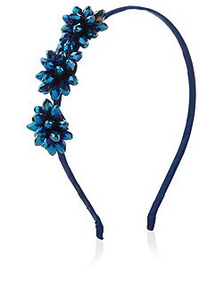 Girls Gem Flower Alice Hairband