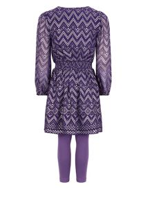 Monsoon Girls Carrie Chevron Set