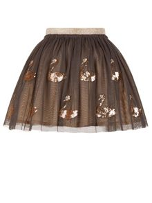Monsoon Girls Disco Sequin Swan Skirt