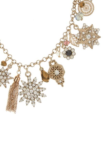 Accessorize Helena Sparkle Charm Necklace