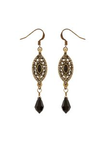 Accessorize Janey Jet Drop Earrings