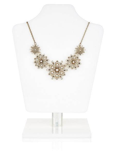 Accessorize Miriam Pearl Flower Statement Necklace