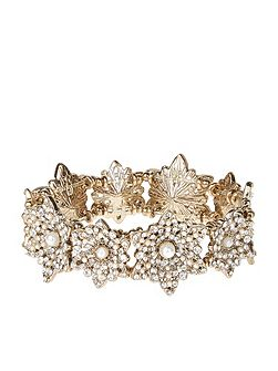Miriam Pearl Flower Stretch Bracelet