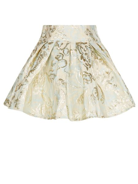 Monsoon Girls Riley Jacquard Skirt