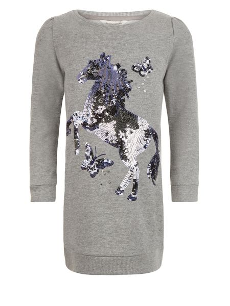 Monsoon Girls Harriet Horse Sweat Dress