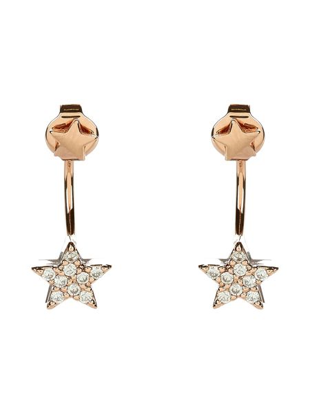 Accessorize Rose Gold Star Front & Back Earrings