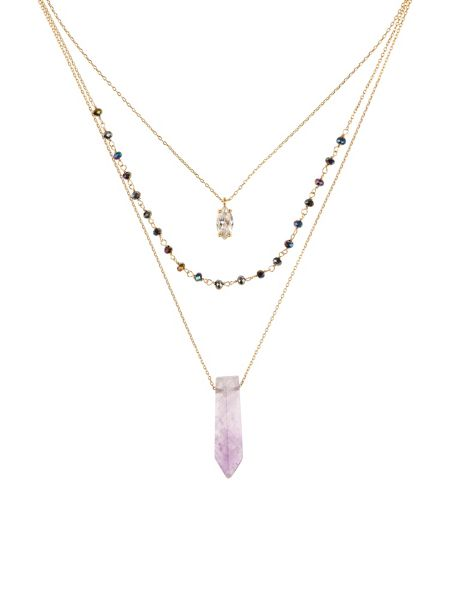 Accessorize Pheonix Layered Pendant Necklace