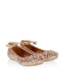 Monsoon Beaded Pom Pom Glitter Ballerina