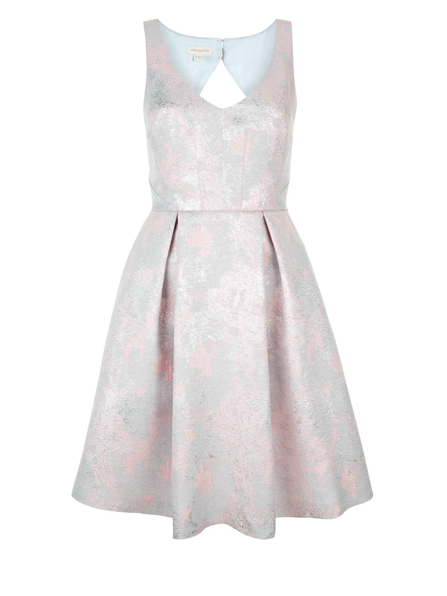 Monsoon Pansy Jacquard Dress, Pink