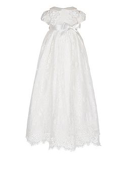 Baby Girls Provenza Silk Christening Gown