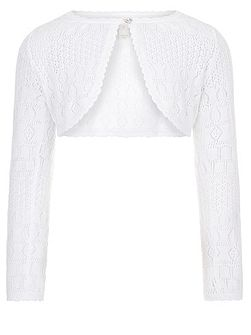 Girls Pollianna Pointelle Cardigan