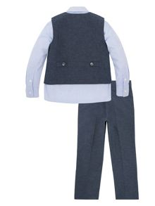Monsoon Boys Lachlan Mix 4 Piece Suit Linen Set