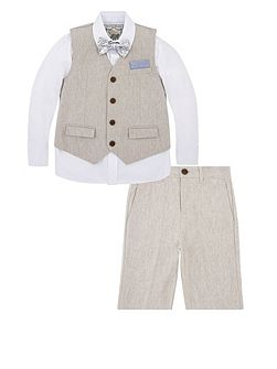 Boys Lee 4 Piece Linen Suit With Shorts