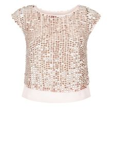 Monsoon Poppy Sequin Top
