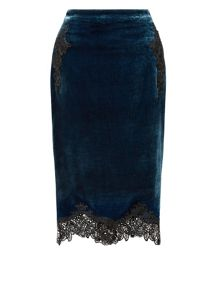 Monsoon Valencia Velvet Skirt