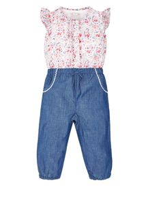 Monsoon Baby Girls Chloe Playsuit