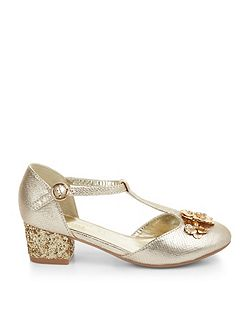 Girls Belle Flower Sparkle Heel