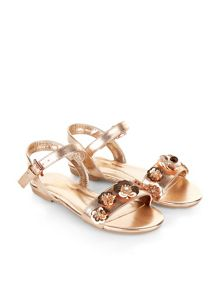 Monsoon Girls Sequin Flower Sandal