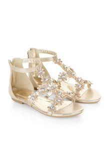 Monsoon Girls Daisy Gem Flower Sandal