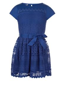 Monsoon Girls Lianna Lace Jersey Dress