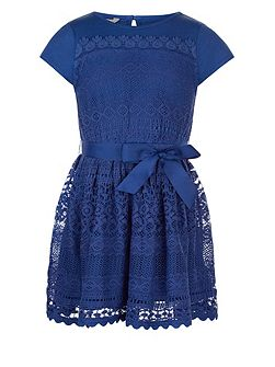 Girls Lianna Lace Jersey Dress