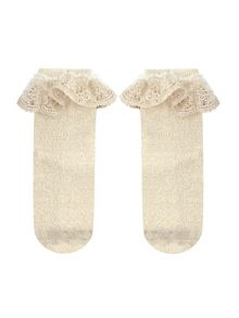 Monsoon Girl Dainty Flower Lace Socks