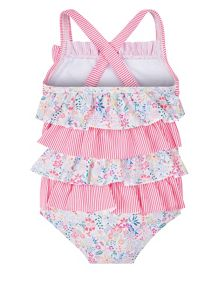Monsoon Girls Baby Lulu Ruffle Swimsuit