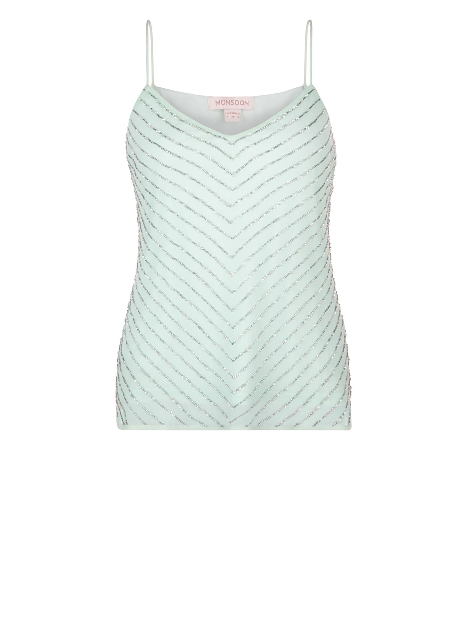 Monsoon Porcia Cami Top, Green
