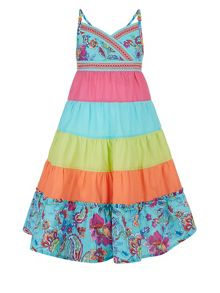 Monsoon Girls Cosima Colourblock Dress