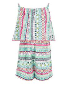 Monsoon Girls Anika Printed Playsuit