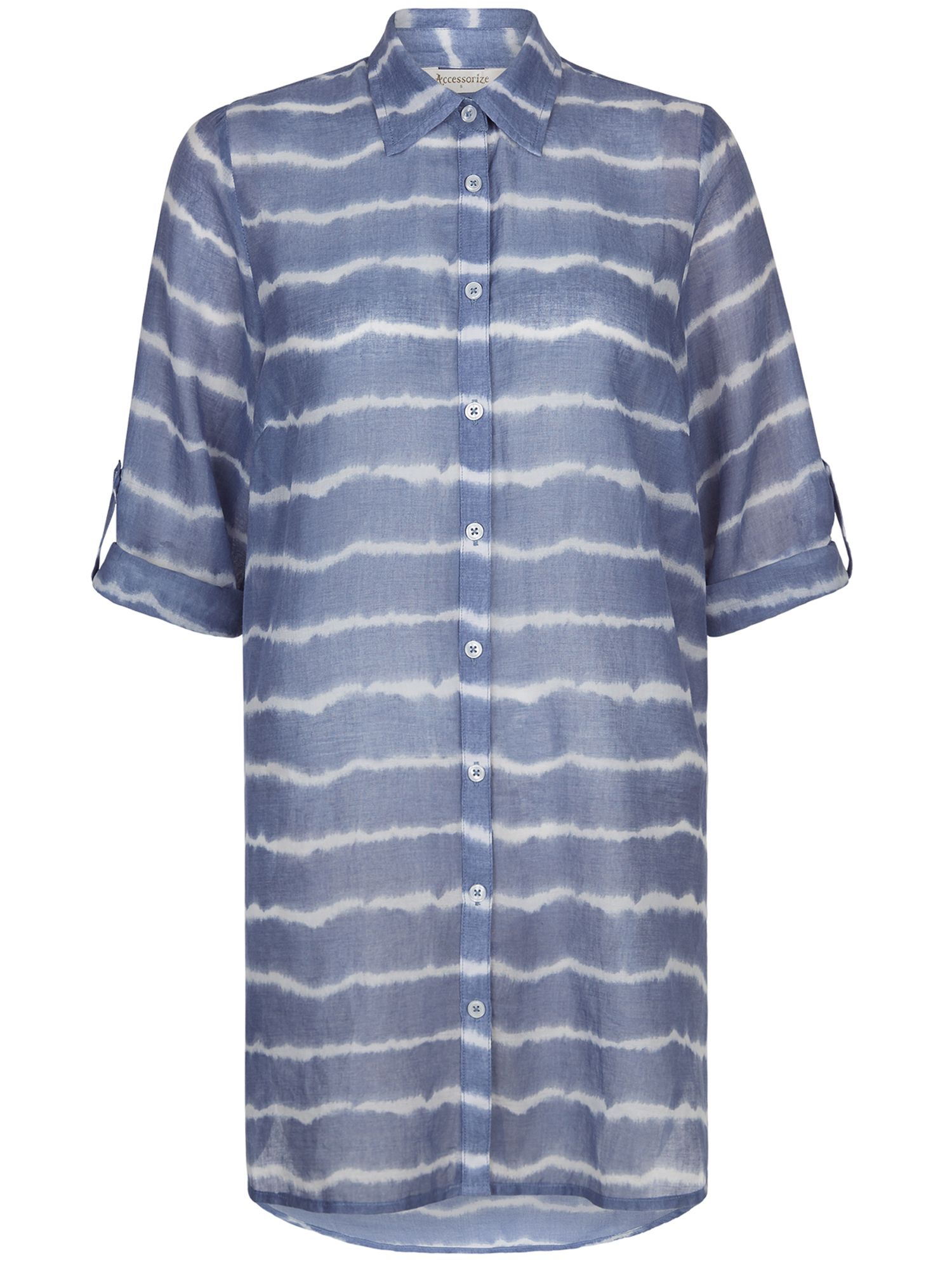Accessorize Tie Dye Beach Shirt, Blue