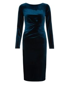 Monsoon Tyra Velvet Dress