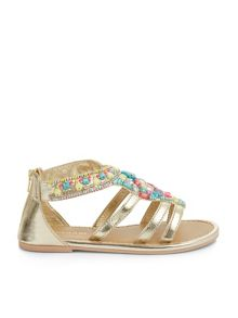 Monsoon Girls Cosima Bright Embellished Sandal