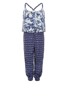 Monsoon Girls Nellie Printed Jumpsuit