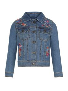 Monsoon Girls Binky Bird Denim Jacket