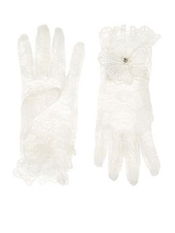 Girls Lacey Flower Communion Glove
